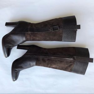 Banana Republic pebble leather/suede tall boots